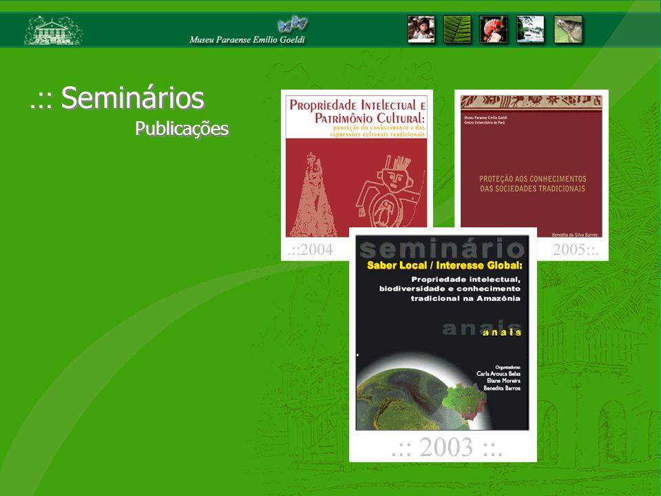 .:: Seminários Publicações