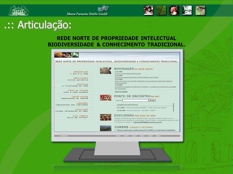 .:: Articulação: REDE NORTE DE PROPRIEDADE INTELECTUAL BIODIVERSIDADE & CONHECIMENTO TRADICIONAL.
