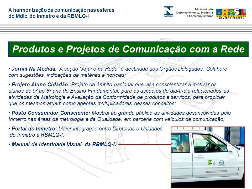 A harmonização da comunicação nas esferas do Mdic, do Inmetro e da RBMLQ-I Produtos e Projetos de Comunicação com a Rede Jornal Na Medida: A seção Aqu