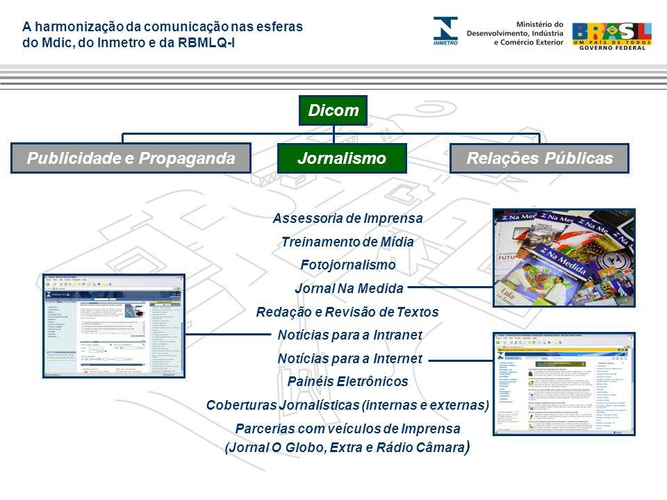 A harmonização da comunicação nas esferas do Mdic, do Inmetro e da RBMLQ-I Assessoria de Imprensa Treinamento de Mídia Fotojornalismo Jornal Na Medida