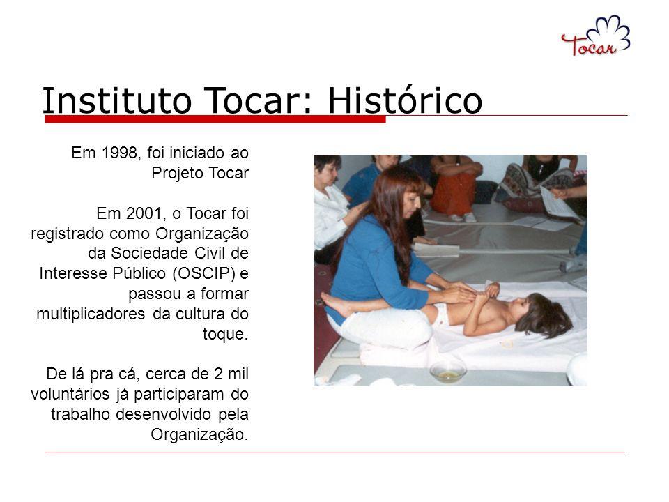 Em 1998, foi iniciado ao Projeto Tocar Em 2001, o Tocar foi registrado como Organização da Sociedade Civil de Interesse Público (OSCIP) e passou a for