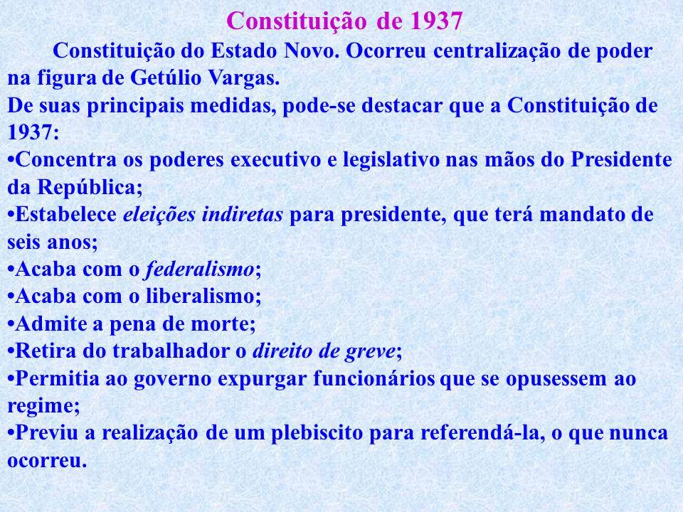 Considerada progressista para a época, a nova Constituição: instituiu o voto secreto; estabeleceu o voto obrigatório para maiores de 18 anos; propicio