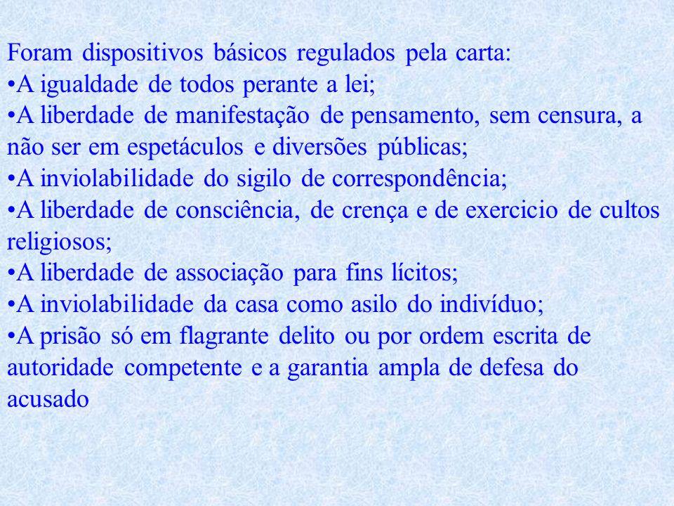 Constituição de 1946 Chamada como Constituição da República Populista. A Constituição de 1946 foi promulgada em 18 de setembro de 1946.A mesa da Assem