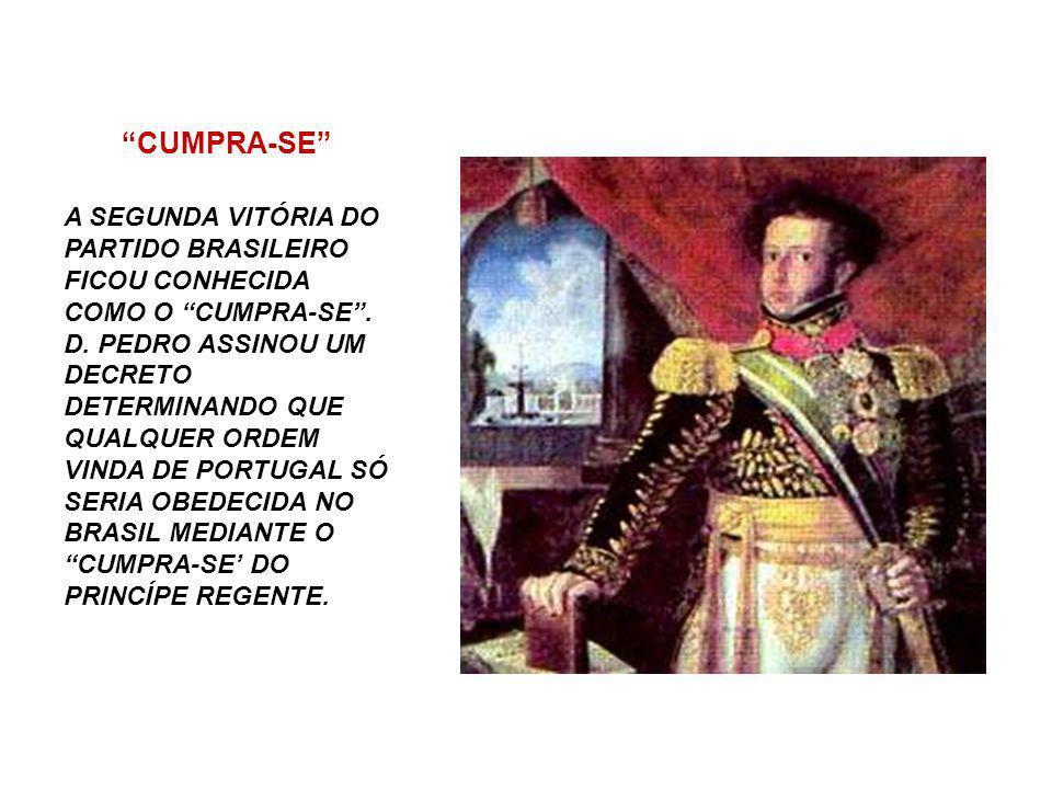 DIA DO FICO A PRIMEIRA VITÓRIA DO PARTIDO BRASILEIRO CONTRA AS CORTES DE LISBOA FOI O DIA DO FICO. NESSE EPISÓDIO D. PEDRO RECEBEU UM MANIFESTO COM MA