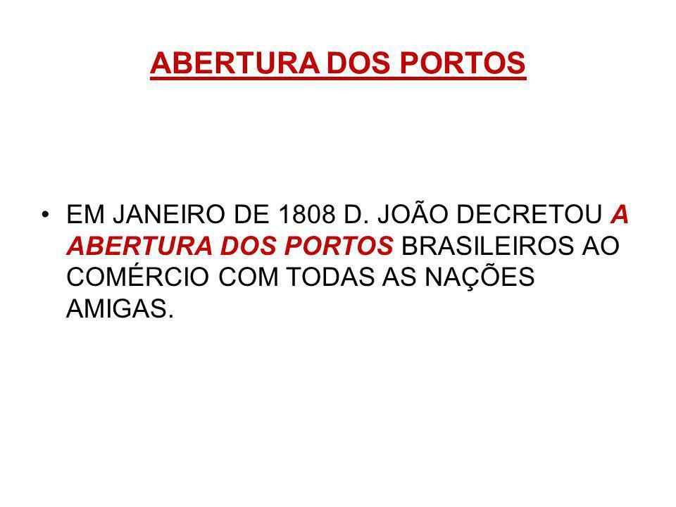 ABERTURA DOS PORTOS EM JANEIRO DE 1808 D.