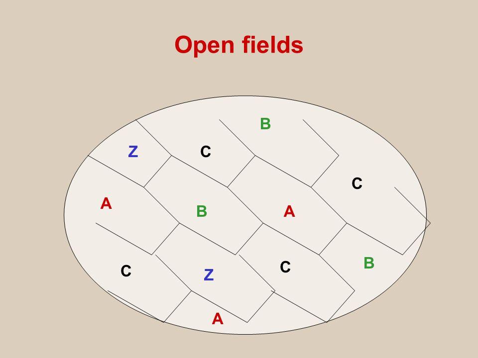 Open fields A A A B B B C C C C Z Z