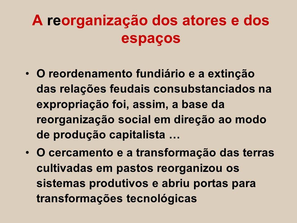 O reordenamento fundiário e a extinção das relações feudais consubstanciados na expropriação foi, assim, a base da reorganização social em direção ao