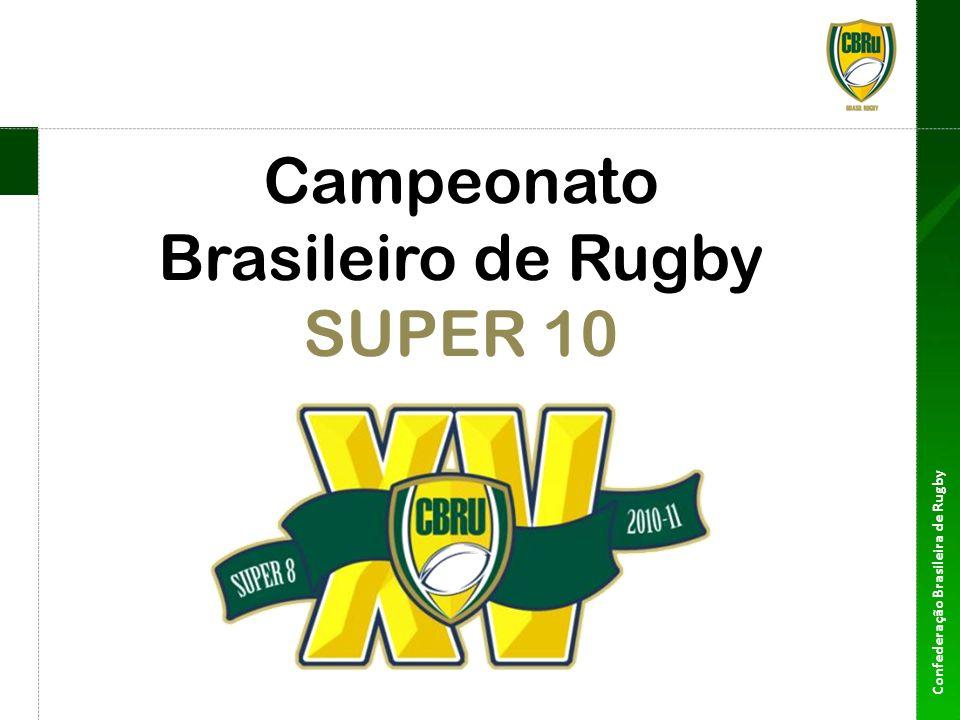 Confederação Brasileira de Rugby Super 10 Formato 10 equipes 2 grupos com 5 equipes 8 rodadas De 30 de Julho a 22 de Outubro