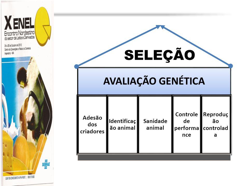 Profa. Dra. Marília Martins cljm@uol.com.br AVALIAÇÃO GENÉTICA Adesão dos criadores Identificaç ão animal Sanidade animal Controle de performa nce Rep