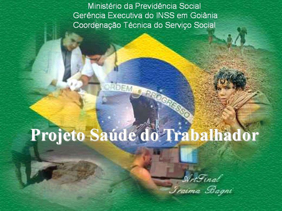2 Previdência Social e Saúde do Trabalhador Previdência Social e Saúde do Trabalhador 2° Ciclo de Palestra sobre Saúde do Trabalhador Goiânia 30/04/2013