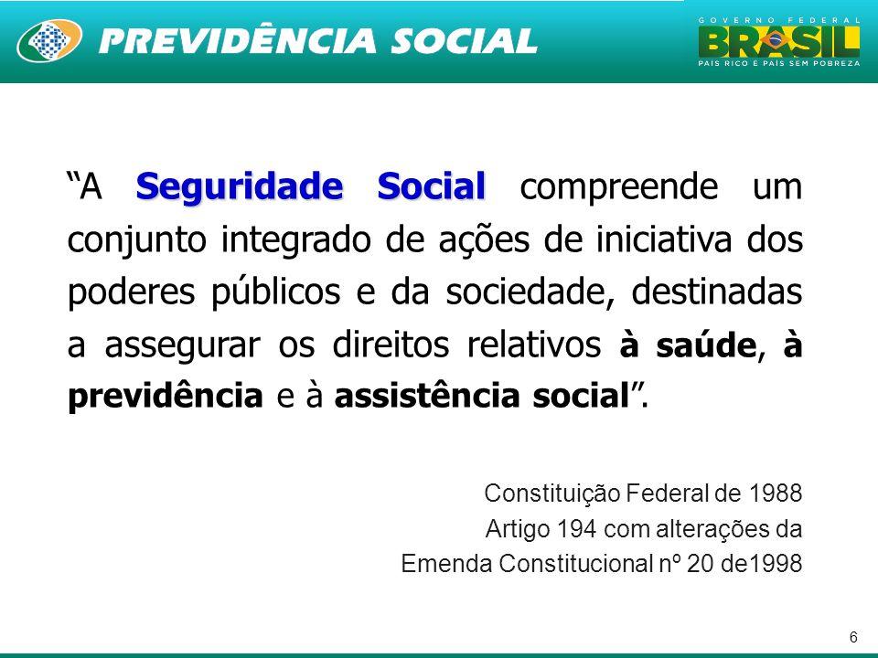 6 Seguridade SocialA Seguridade Social compreende um conjunto integrado de ações de iniciativa dos poderes públicos e da sociedade, destinadas a asseg