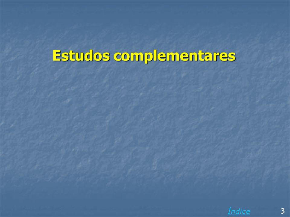 Estudos complementares 3 Índice