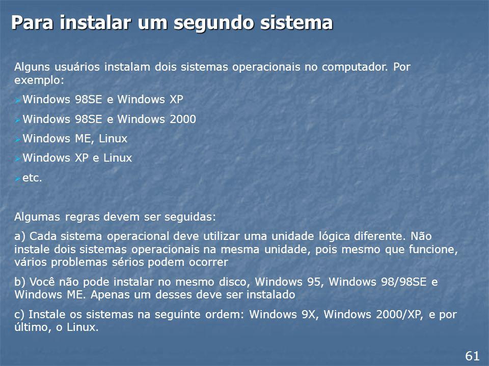 Instalando dois sistemas operacionais 60