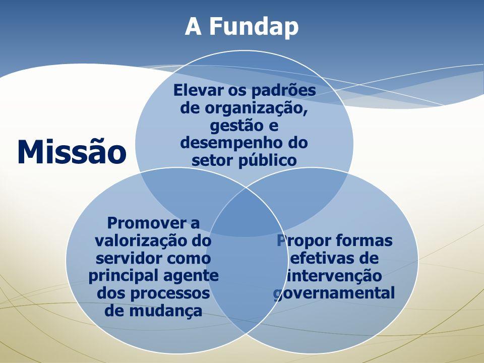 Elevar os padrões de organização, gestão e desempenho do setor público Propor formas efetivas de intervenção governamental Promover a valorização do s