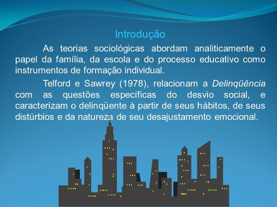 Introdução As teorias sociológicas abordam analiticamente o papel da família, da escola e do processo educativo como instrumentos de formação individu