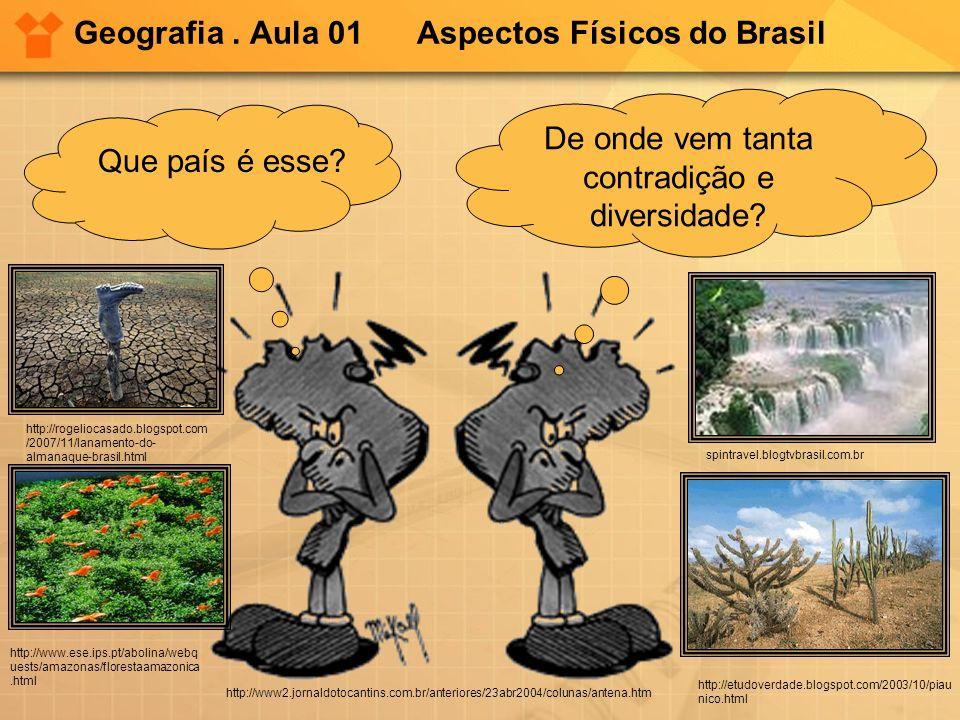 Geografia. Aula 01 Aspectos Físicos do Brasil Que país é esse? De onde vem tanta contradição e diversidade? http://www2.jornaldotocantins.com.br/anter