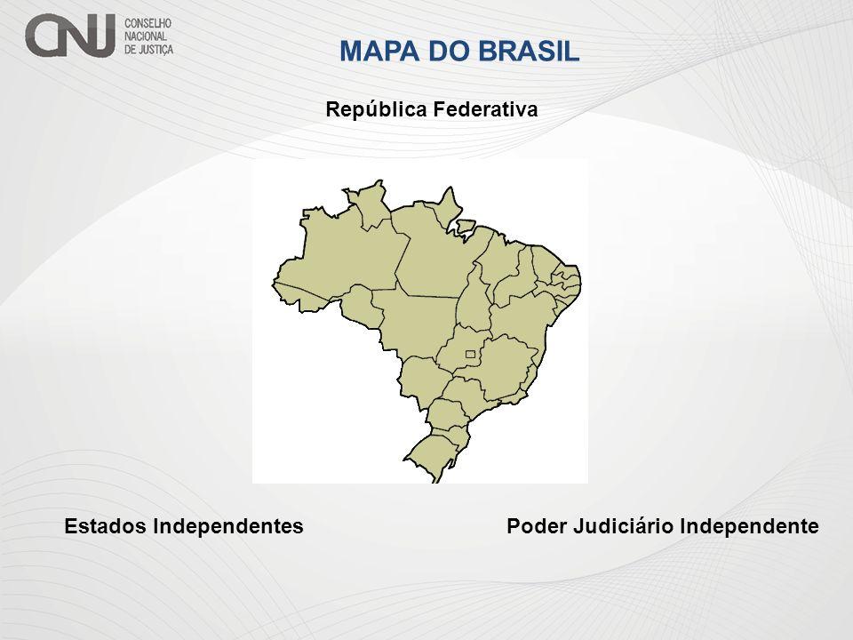 MAPA DO BRASIL República Federativa Estados IndependentesPoder Judiciário Independente