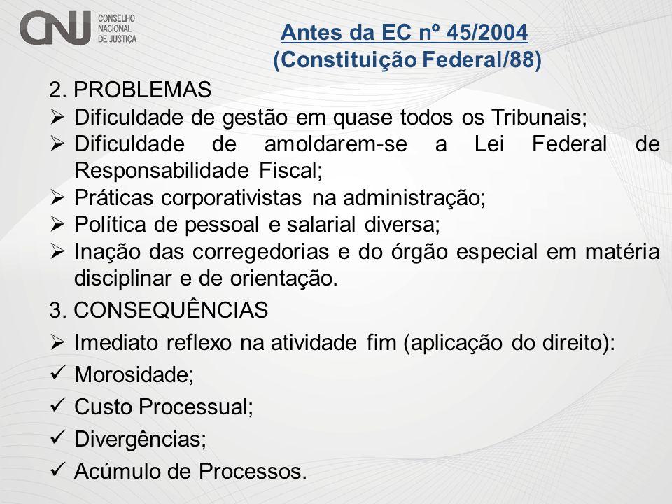 2. PROBLEMAS Dificuldade de gestão em quase todos os Tribunais; Dificuldade de amoldarem-se a Lei Federal de Responsabilidade Fiscal; Práticas corpora