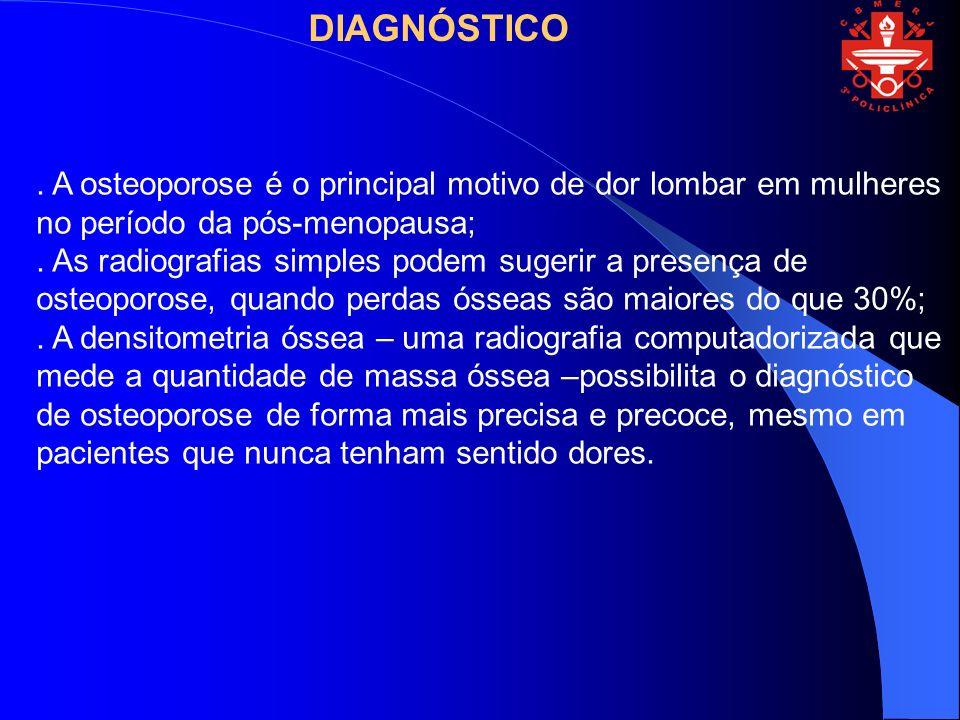 Indicações para a densitometria óssea.Mulheres em pós-menopausa ou acima de 50 anos de idade.