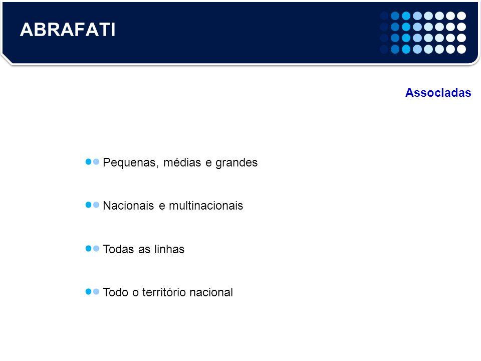ABRAFATI Associadas Pequenas, médias e grandes Nacionais e multinacionais Todas as linhas Todo o território nacional