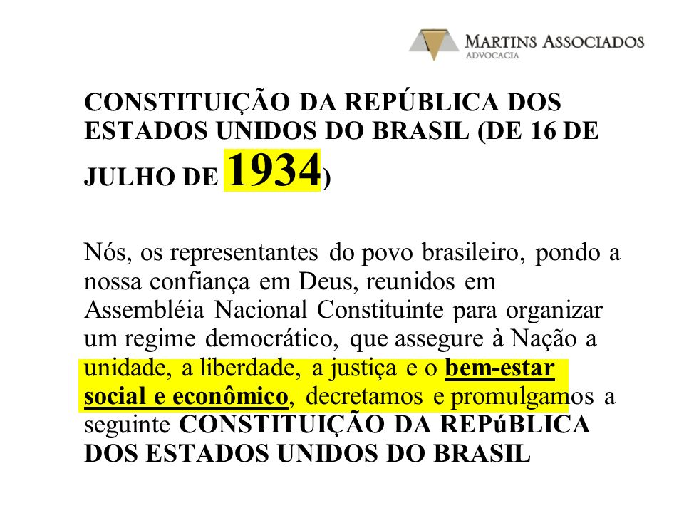 CONSTITUIÇÃO DA REPúBLICA DOS ESTADOS UNIDOS DO BRASIL ( DE 24 DE FEVEREIRO DE 1891 ) Nós, os representantes do povo brasileiro, reunidos em Congresso