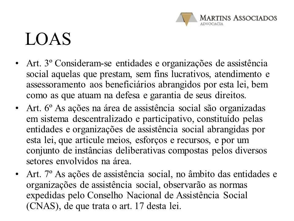 LOAS Art. 2º A assistência social tem por objetivos: (…) V - a garantia de 1 (um) salário mínimo de benefício mensal à pessoa portadora de deficiência
