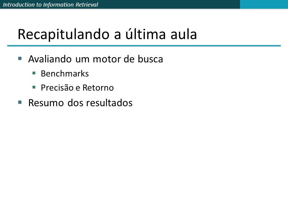 Introduction to Information Retrieval Resultados após Feedback de Relevância Sec. 9.1.1