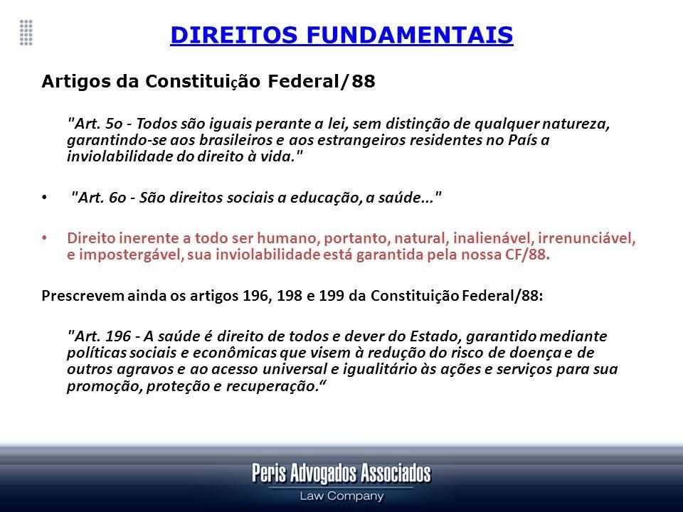 LEIS DIRETAS - Art.199 – A assistência à saúde é livre à iniciativa privada.