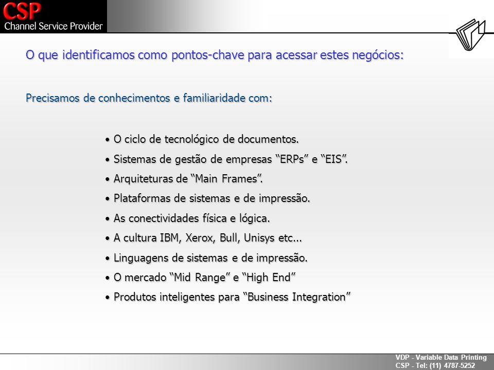 VDP - Variable Data Printing CSP - Tel: (11) 4787-5252 As tecnologias de impressão são todas iguais.