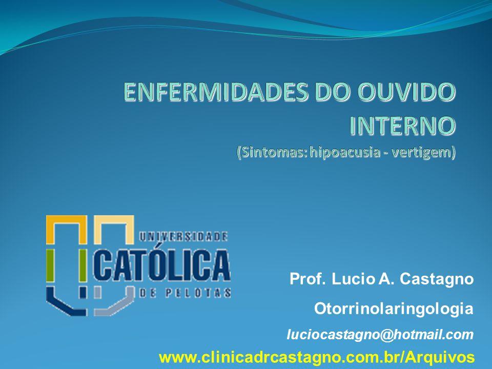 Prof. Lucio A. Castagno Otorrinolaringologia luciocastagno@hotmail.com www.clinicadrcastagno.com.br/Arquivos