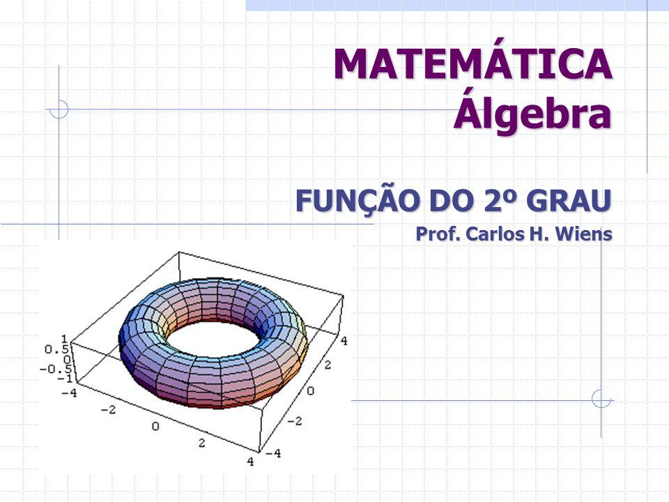 d) Trace uma reta perpendicular ao vértice.Esta reta será o eixo de SIMETRIA do gráfico da função.