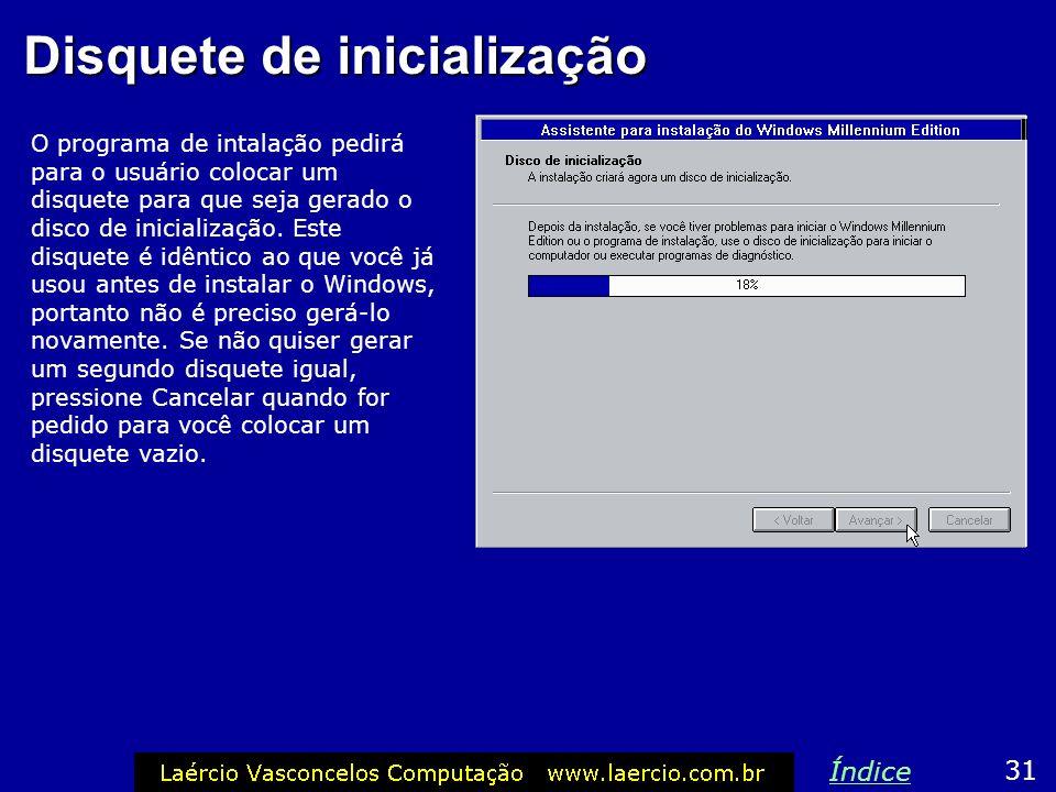 Fuso horário 30 Índice Indique o fuso horário. O Windows precisa saber esta informação para ajuste de funções de data e hora. A opção padrão é GMT-3:0