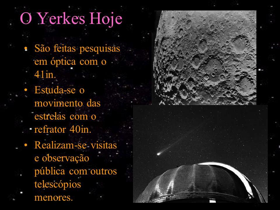 História da Ciência Vários Astrônomos famosos usaram o Yerkes para realizar suas descobertas. Espectrômetro de Morgan –Edward Barnard estudou a Via Lá