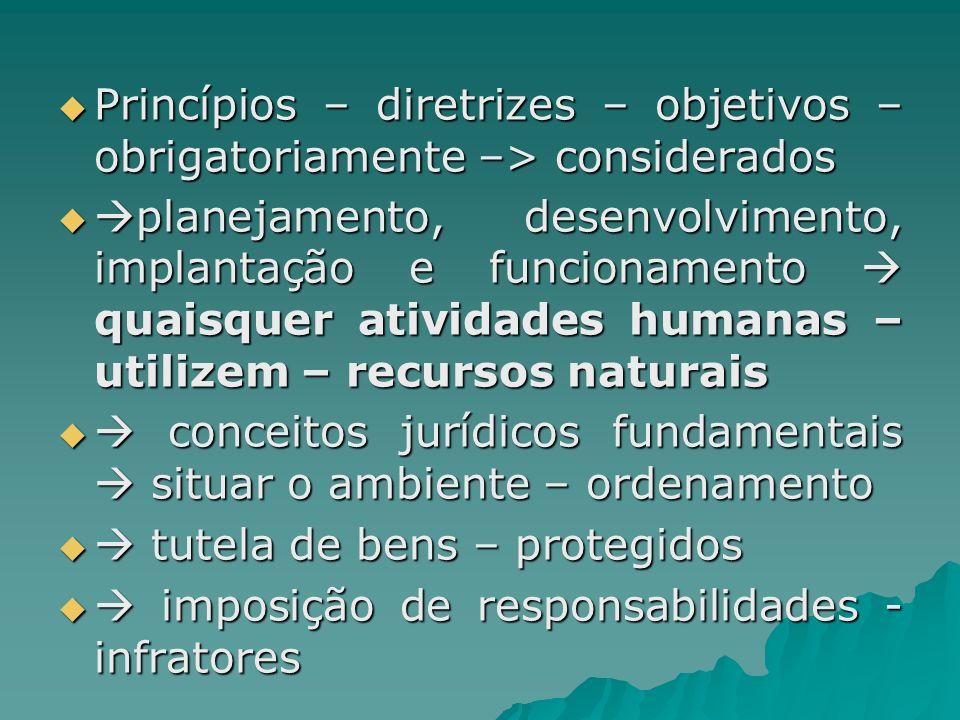 Princípios – diretrizes – objetivos – obrigatoriamente –> considerados Princípios – diretrizes – objetivos – obrigatoriamente –> considerados planejam