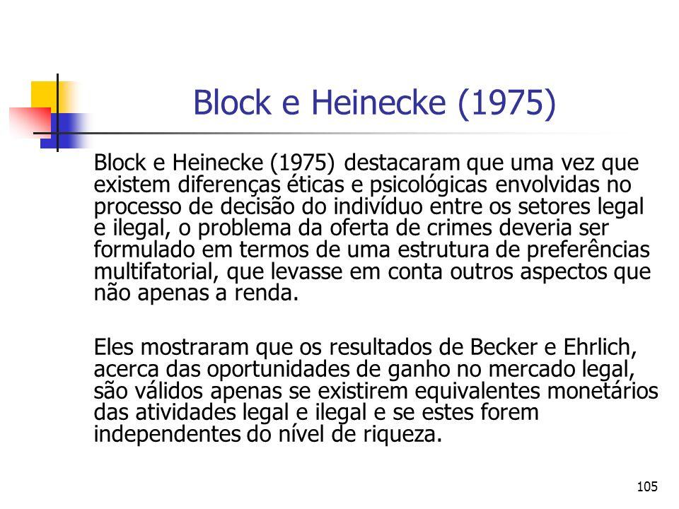 105 Block e Heinecke (1975) Block e Heinecke (1975) destacaram que uma vez que existem diferenças éticas e psicológicas envolvidas no processo de deci