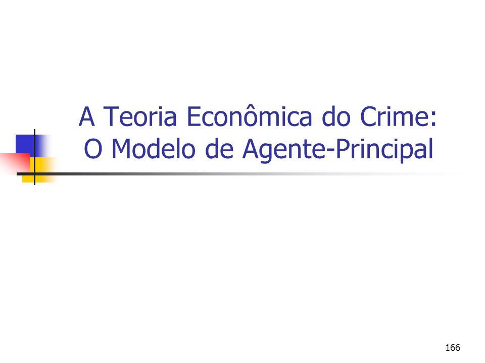 166 A Teoria Econômica do Crime: O Modelo de Agente-Principal