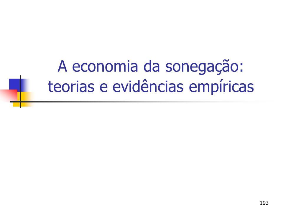 193 A economia da sonegação: teorias e evidências empíricas