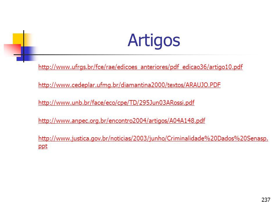 237 Artigos http://www.ufrgs.br/fce/rae/edicoes_anteriores/pdf_edicao36/artigo10.pdf http://www.cedeplar.ufmg.br/diamantina2000/textos/ARAUJO.PDF http