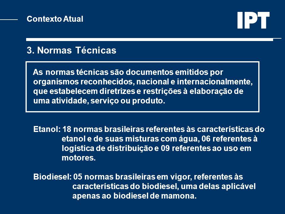 Contexto Atual 3. Normas Técnicas As normas técnicas são documentos emitidos por organismos reconhecidos, nacional e internacionalmente, que estabelec
