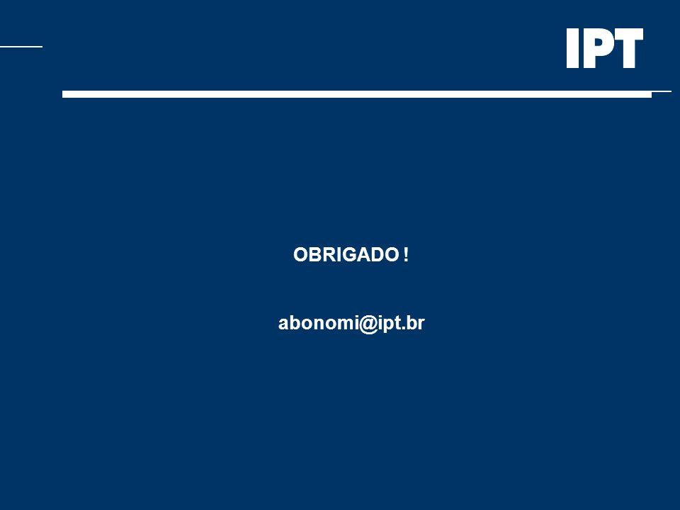OBRIGADO ! abonomi@ipt.br