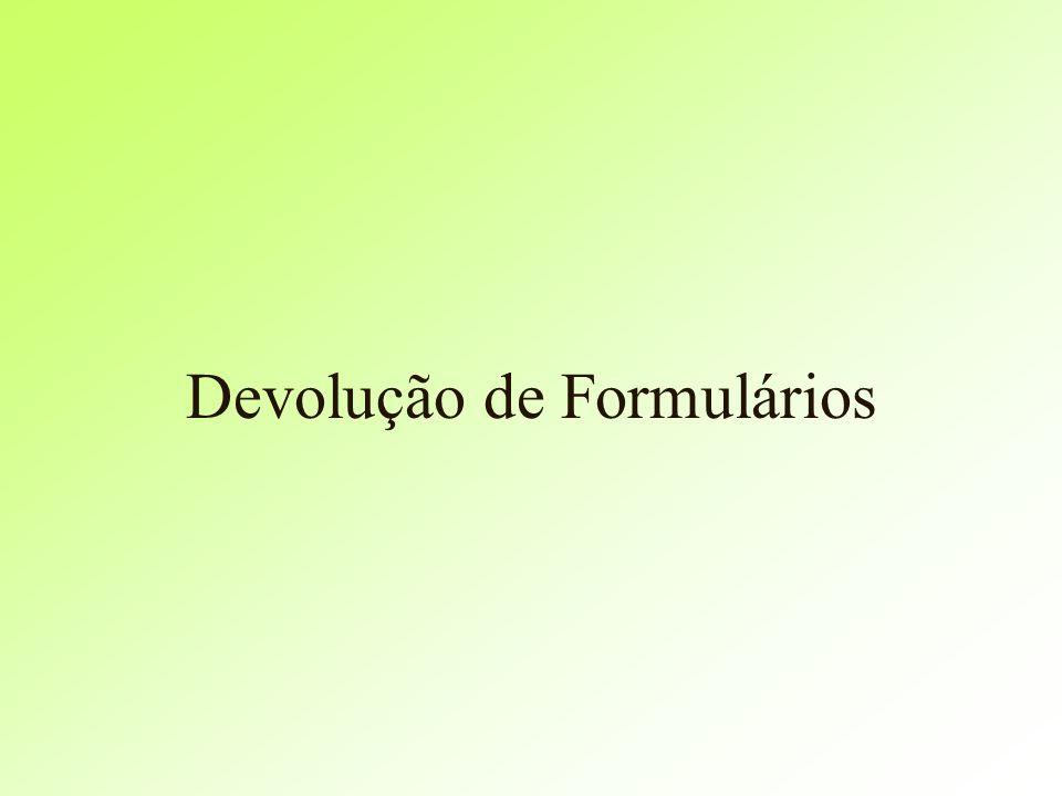 Devolução de Formulários