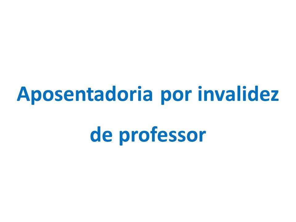 Aposentadoria por invalidez de professor
