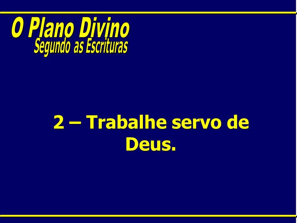 2 – Trabalhe servo de Deus.