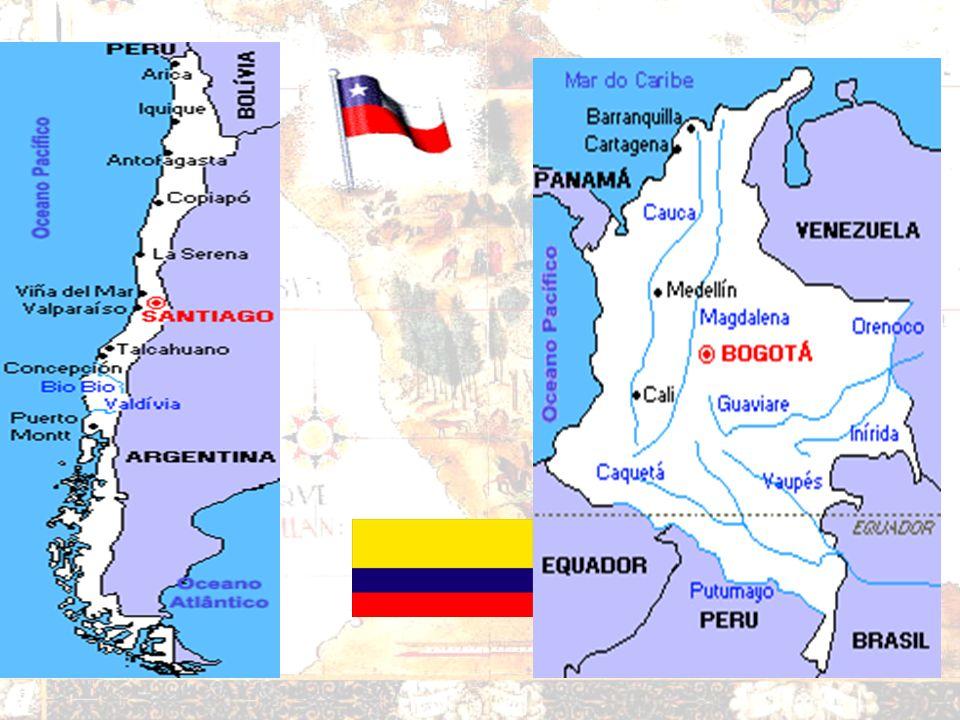 ANDINOS Andes Miscigenação: –Índios + europeus –Bolívia, Peru e Chile Afrodescendentes: –Venezuela e Colômbia Matérias – primas –Agrícolas –Animais Re