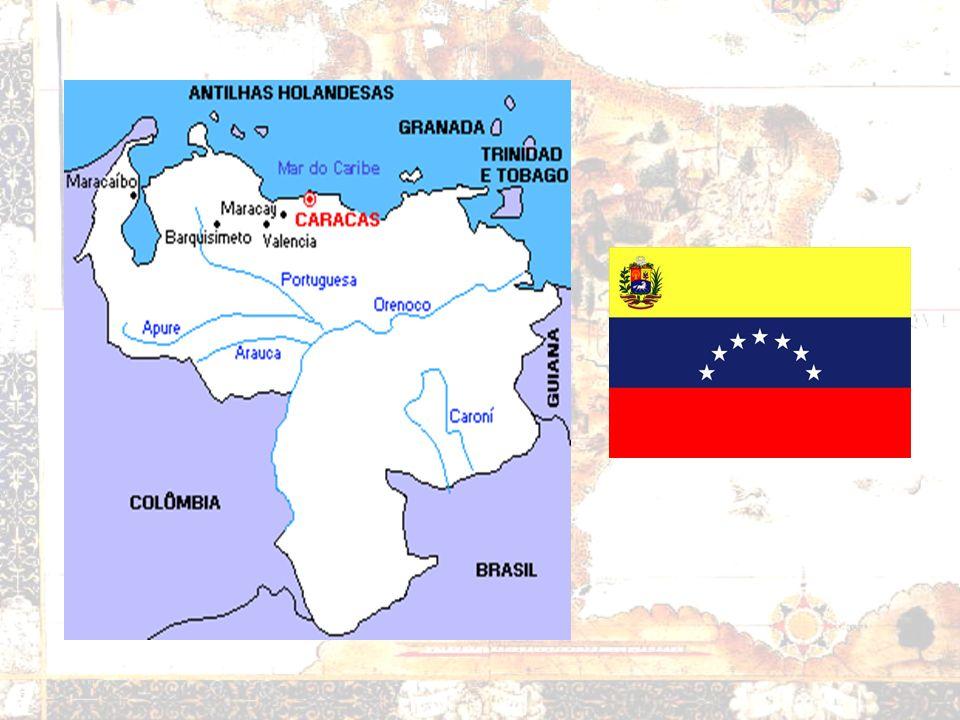 Venezuela Produtor de petróleo Membro da OPEP Hugo Chavéz – Bolivarianismo sabotagem dos EUA Apoio do Brasil Ingresso no MERCOSUL Desigualdades region