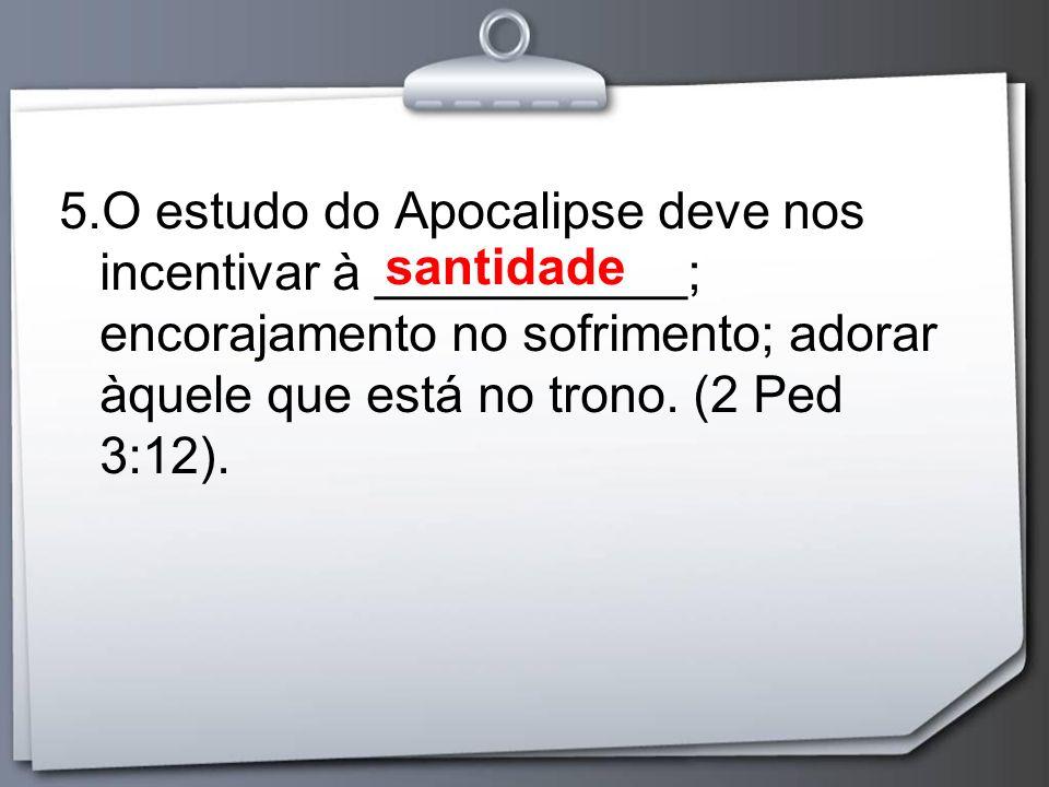 O livro é prático e revela-nos: 1) A certeza de que Jesus _________ ________________; 2) Jesus tem _____________________ 3) A perseguição do mundo e do diabo _____________________________; controle da Igreja tem o total o total controle da História não podem destruir a Igreja