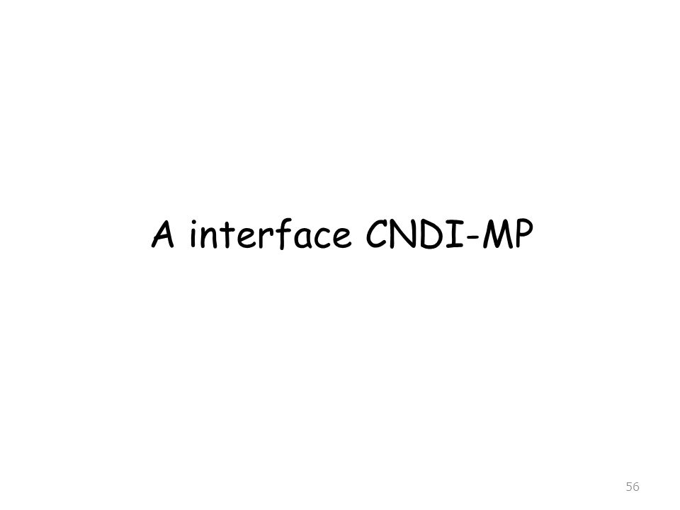56 A interface CNDI-MP