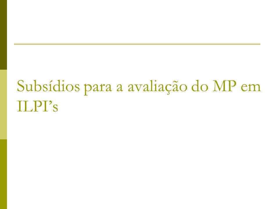 Subsídios para a avaliação do MP em ILPIs