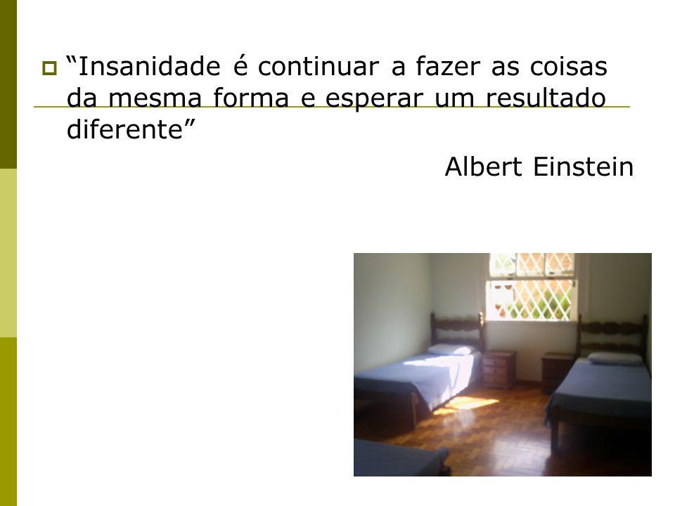 Insanidade é continuar a fazer as coisas da mesma forma e esperar um resultado diferente Albert Einstein