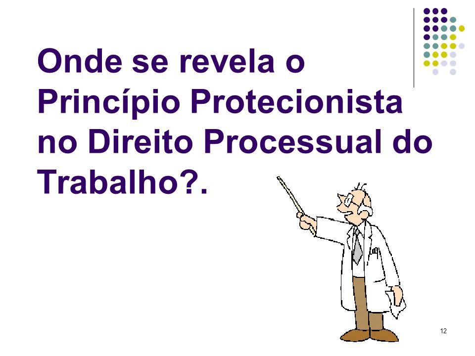 12 Onde se revela o Princípio Protecionista no Direito Processual do Trabalho?.